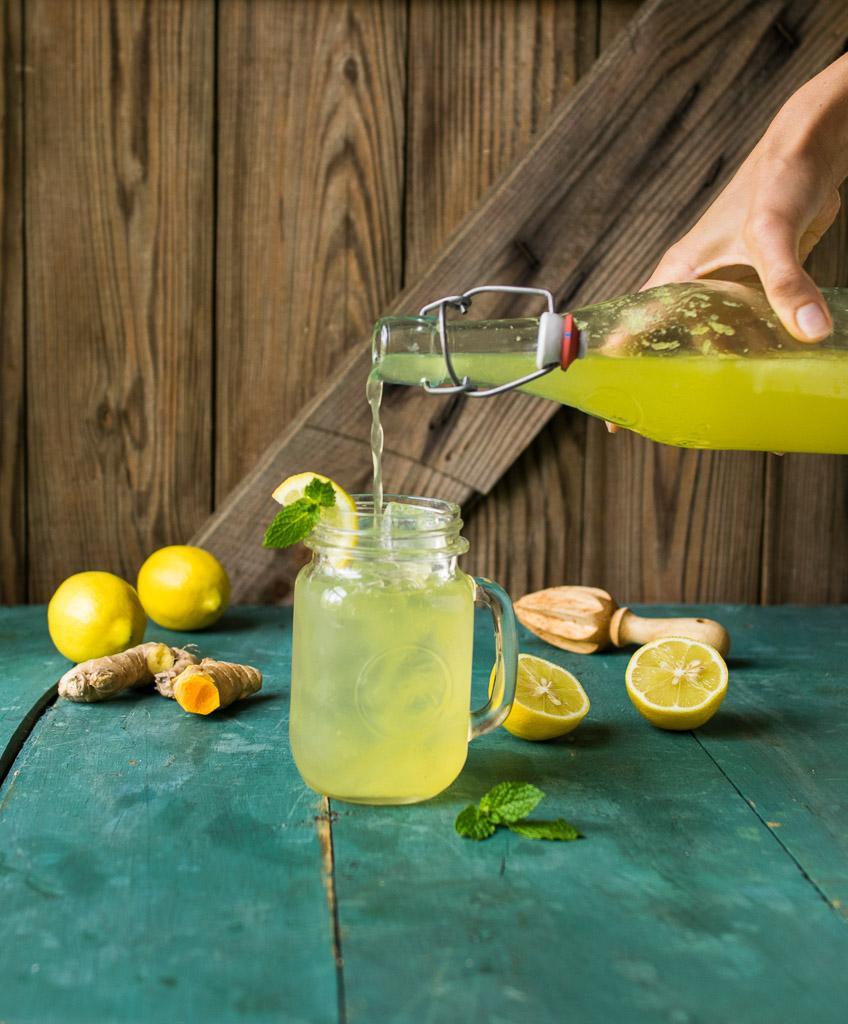 Sparkling Ginger Turmeric Lemonade | Reclaiming YesterdayReclaiming ...